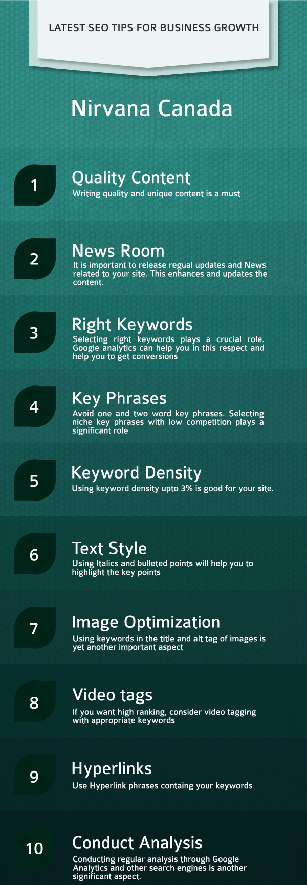 latest seo tips for business growth infographics