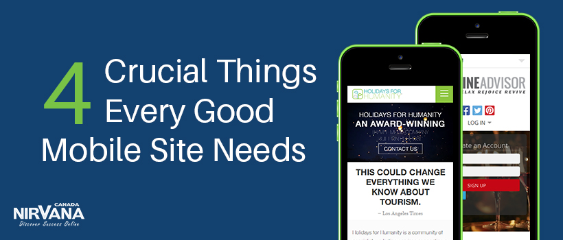Good Mobile Site Needs