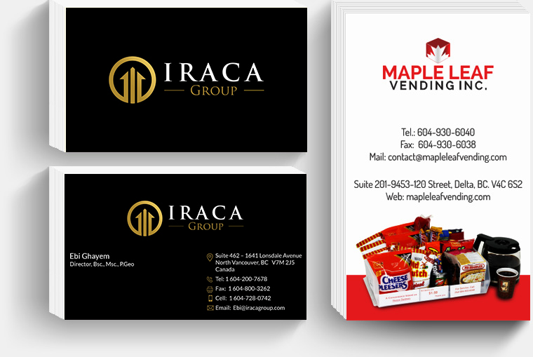 Branding agency vancouver nirvana canada business card creation printing reheart Gallery
